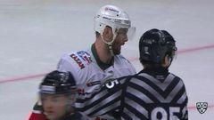 Удаление. Захарчук Степан (Ак Барс) удален на 2+10 минут за атаку в область головы и шеи