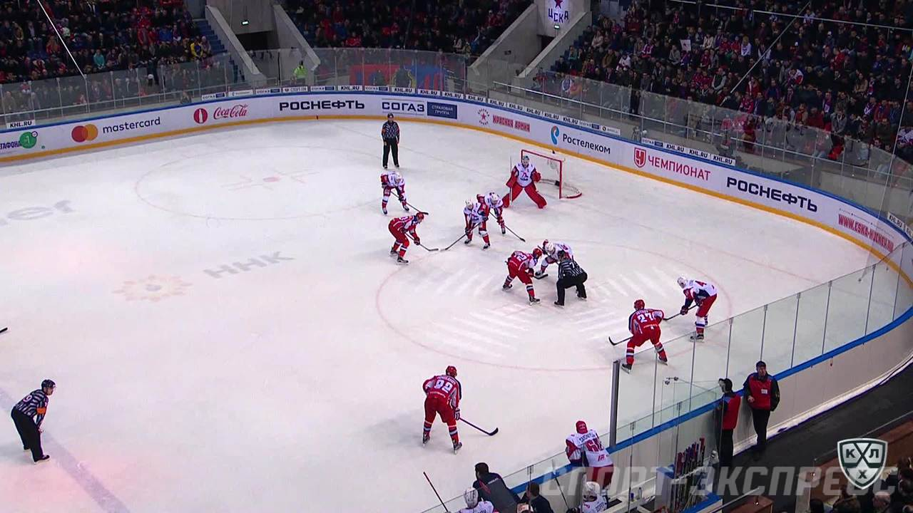 Гол. 1:1. Попов Александр (ЦСКА) замкнул в пустой угол