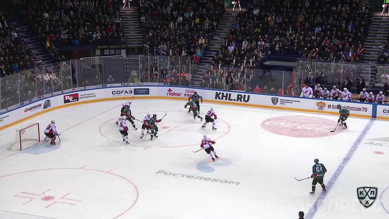 Гол. 2:0. Попов Андрей (Ак Барс) подставил клюшку