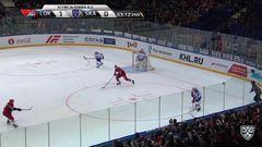 Удаления. Рушан Рафиков (Локомотив) удалён на 2 минуты за опасную игру высоко поднятой клюшкой
