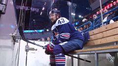 Гол. 2:3. Евгений Дадонов (СКА) в касание замкнул передачу партнёра, после чего произошла небольшая стычка